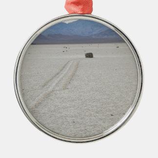 Race track christmas tree ornament