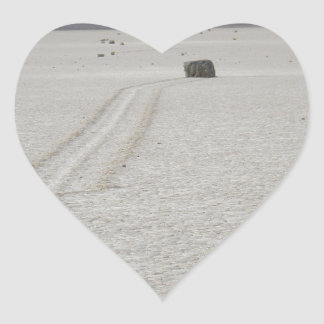 Race track heart sticker