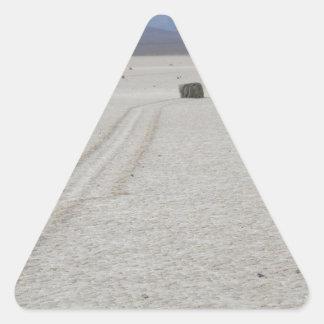 Race track triangle sticker