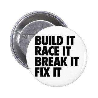 RaceCar 6 Cm Round Badge