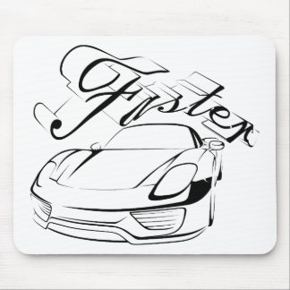 Racecar in tribals mouse pads