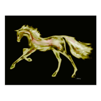 Racehorse Greats ~ Gold Deco Postcard