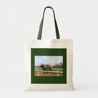 Racehorse Running Tote Bag