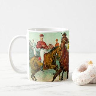 Racehorses 1893 coffee mug