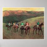 Racehorses in a Landscape, 1894, Edgar Degas Print