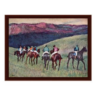 Racehorses: The Training By Edgar Degas Postcards