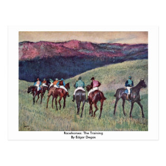 Racehorses The Training By Edgar Degas Post Card