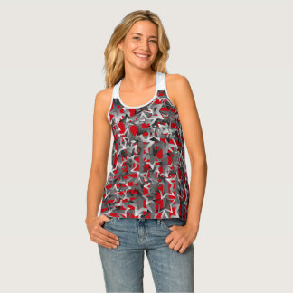 "Racer-back Tank Top with ""Gradients Stars"""
