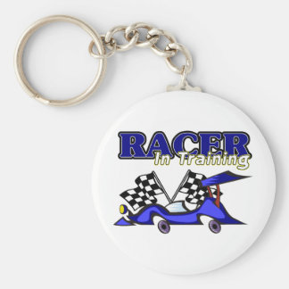 Racer In Training Basic Round Button Key Ring