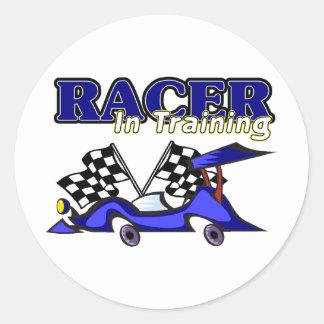 Racer In Training Classic Round Sticker