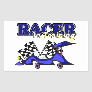 Racer In Training Rectangular Stickers