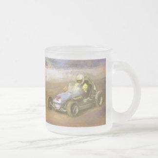 Racer Frosted Glass Mug