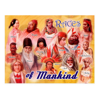 Races of Mankind Postcard