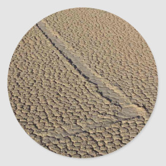 Racetrack Playa Sliding Stones Moving Rocks Round Stickers