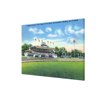 Raceway View of Grand Stand, Club House, Canvas Print