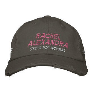 Rachel Alexandra She's Not Normal HOY Hat (Pink) Embroidered Baseball Cap