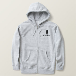 Rachel Alexandra Silhouette Embroidered Sherpa Hoodie