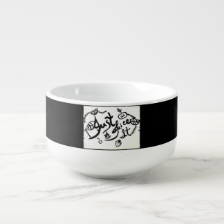 Rachel Doodle Art - Just Juice It Soup Bowl With Handle