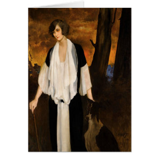 Rachel Strong by Léon Bakst 1924 Greeting Card