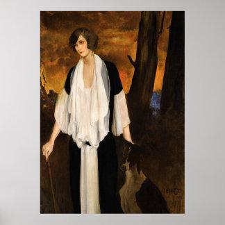Rachel Strong by Léon Bakst 1924 Poster