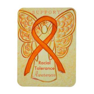 Racial Tolerance Awareness Ribbon Angel Magnet