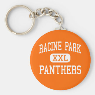 Racine Park - Panthers - High - Racine Wisconsin Basic Round Button Key Ring