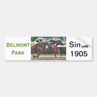 Racing at Belmont Park Bumper Sticker