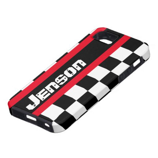 Racing auto sports chequered flag name iphone case iPhone 5 case