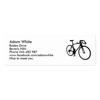 Racing bicycle business card template
