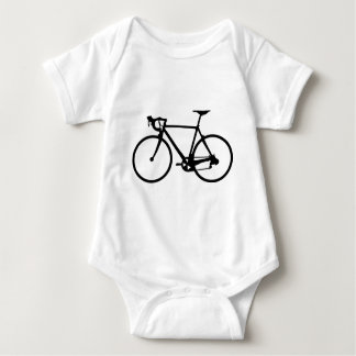 racing bike - racer bicycle baby bodysuit
