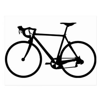 racing bike - racer bicycle postcards