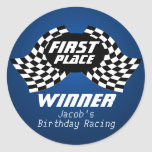 Racing Birthday Chequered Flags 1st Place