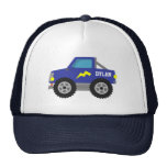 Racing Blue Monster Truck, for Boys Cap