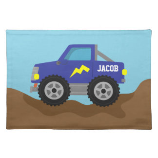 Racing Blue Monster Truck, for Boys Placemats
