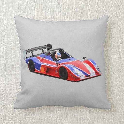 racing car throw pillows