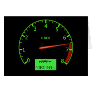 Racing Car Fan Birthday Card