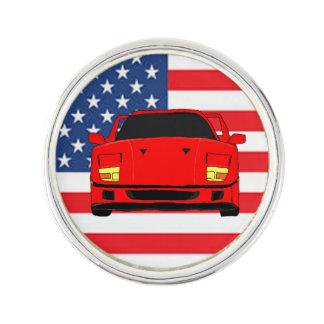 Racing car lapel pin