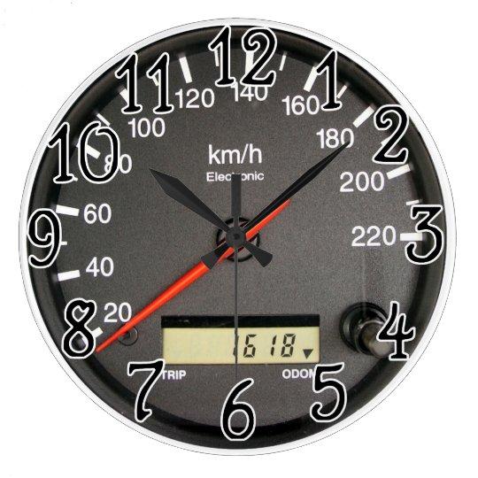 Racing car Odometer design Wall Clock