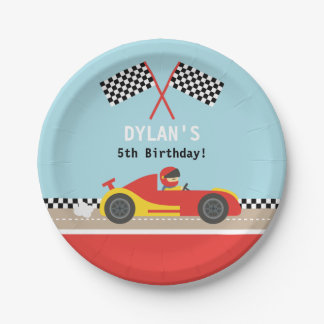 Racing Car Racer Boys Birthday Party Supplies Paper Plate