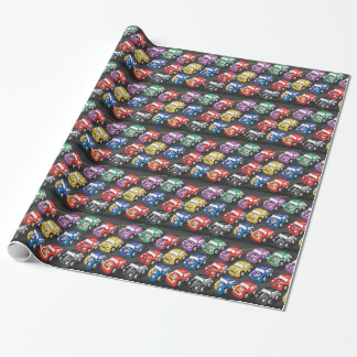Racing Cars Road Race Wrapping Paper