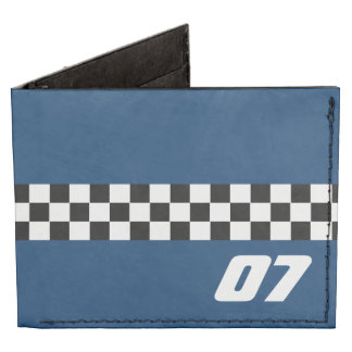 Racing Checker Pattern with Number