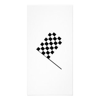 Racing Checkered Flag Photo Card Template
