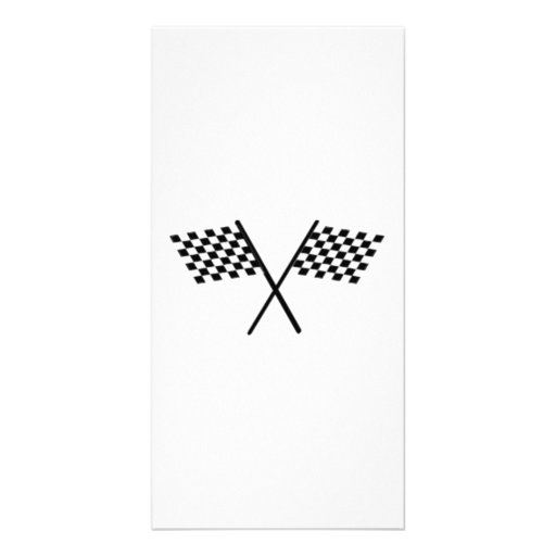 Racing Checkered Flags Photo Card Template