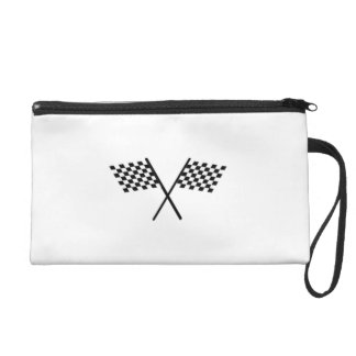 Racing Checkered Flags Wristlet Clutches