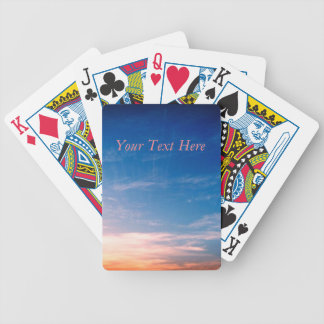 Racing Clouds Bicycle Playing Cards