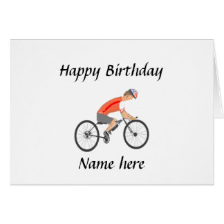 Racing Cyclist, add text Greeting Cards