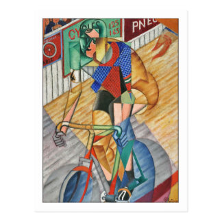Racing Cyclist by Metzinger Postcard