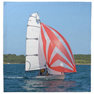 Racing Dinghy At Fornells Printed Napkins