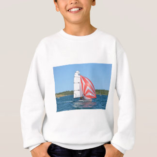Racing Dinghy At Fornells Sweatshirt