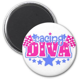 Racing Diva 6 Cm Round Magnet